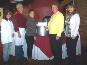 Representatives of the Oswego Lions Club recently presented United Way of Greater Oswego County with a check in the amount of $1,500 in support of United Way?s Stone Soup Luncheon. All proceeds from the event, as well as the food that is collected, will be donated to local food pantries.