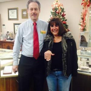 Jen Losurdo was the lucky winner of the UWGOC's DuFore Diamond Ring Raffle in 2014